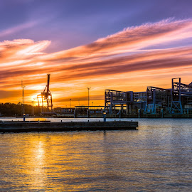 Viking Sunset by Bojan Bilas - Landscapes Sunsets & Sunrises ( terminal, sunset, vista, finland, turku, landscape )