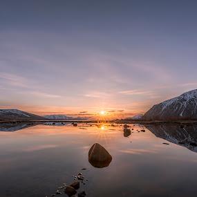 Sunset night by Benny Høynes - Landscapes Sunsets & Sunrises ( water, sunset, sunshine, night, norway, nightscape )