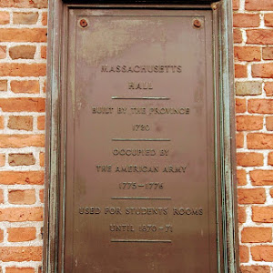 MASSACHUSETTSHALL BUILT BY THE PROVINCE 1720 OCCUPIED BY THE AMERICAN ARMY1775-1776USED FOR STUDENTS' ROOMSUNTIL 1870-71 Submitted by @shoelaces3