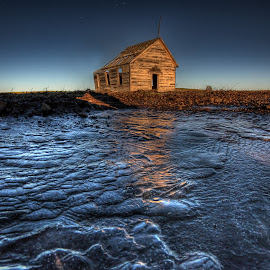Frozen in Time by Eric Demattos - Buildings & Architecture Decaying & Abandoned ( old, school, eric demattos, ice, sunrise, weathered, abandoned )