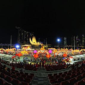 River Hong Bao Carnival 2012 by Sim  Chee teck - Landscapes Travel ( carnival, marina bay floating platform, river hong bao carnival 2012 )