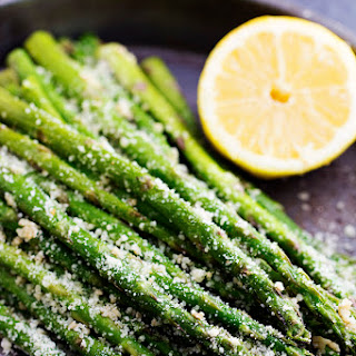 Roasted Lemon Parmesan Garlic Asparagus