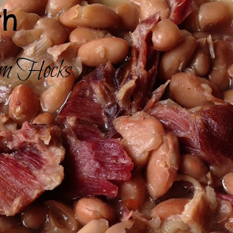 Pinto Beans with Smoked Ham Hocks {Slow Cooker}