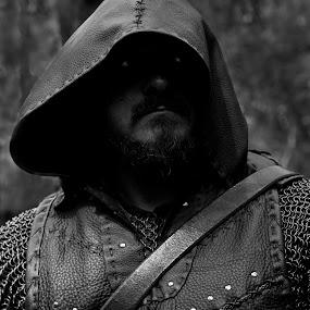 The Dark Lord Cometh by Russell Mander - People Portraits of Men ( warrior, b & w, nightmare, death on legs, viking,  )