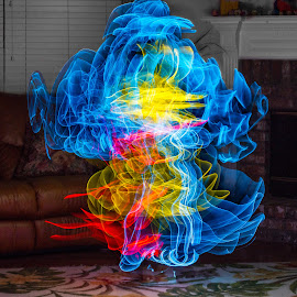 Dancing Ghost by Judy Rosanno - Abstract Light Painting (  )