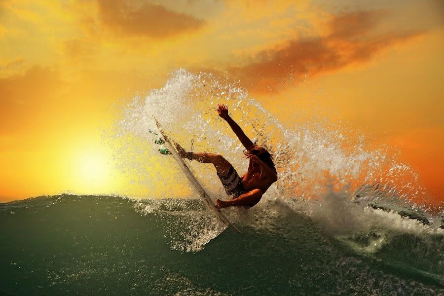 Sunset Swing by Alit  Apriyana - Sports & Fitness Surfing