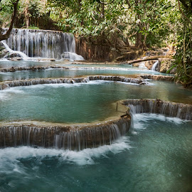 Kuang Si by Hale Yeşiloğlu - Landscapes Waterscapes ( waterscape, waterfall, laos, luang prabang, travel,  )