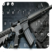 App Submachine Gun Keyboard Themes APK for Kindle