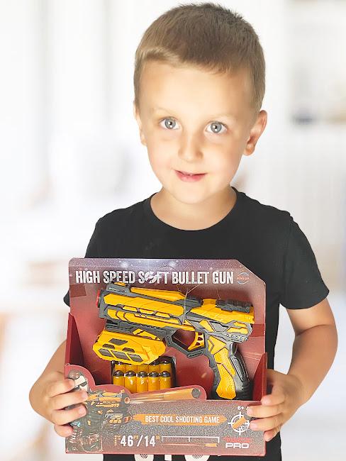 Пистолет, Анаконда, IQ Boy, Weapon, Бластер, с подствольником, желтый