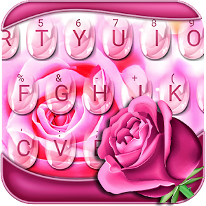 Download Pink Rose Keyboard Theme for PC