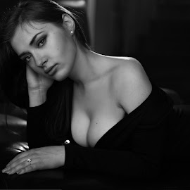 by Mike Sukhram - People Portraits of Women ( voluptuous, demure, sexy, woman, evocative, provocative, cleavage )