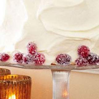 Cranberry-Vanilla Cake with Whipped Cream Frosting