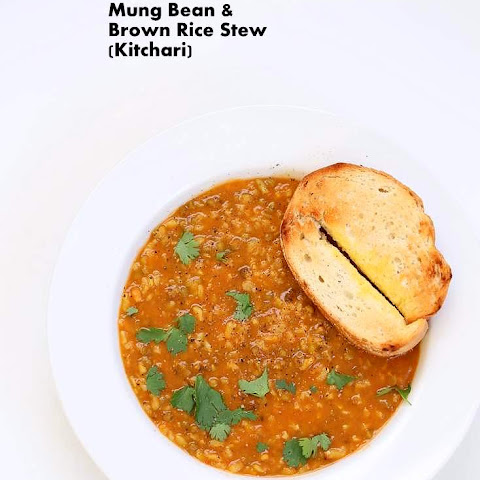 Brown Rice Mung Bean Kitchari - Mung Bean Stew