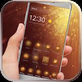 Gold glitter neon gold theme APK for Blackberry