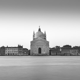 Rendetor Church Venice by John Holmes - Buildings & Architecture Places of Worship ( monochrome, church, black and white, redentor, venice, long exposure, italy )
