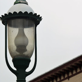 Historic Town by Roxanne Dean - City,  Street & Park  Street Scenes ( street light, old-fashioned, buildings, windows, town )