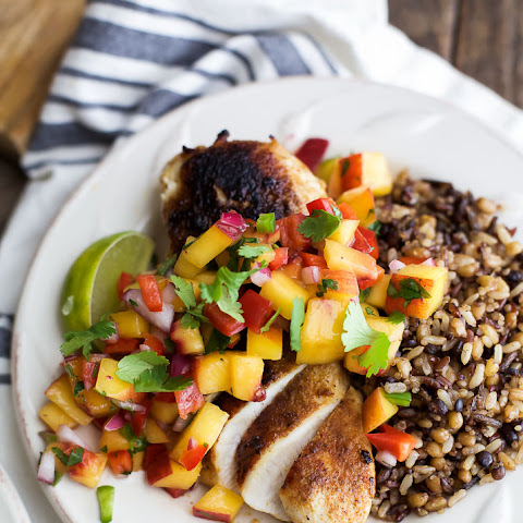 Pan Seared Chicken with Peach Salsa
