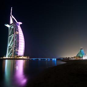 The Burj Al Arab by Darren Tan - Buildings & Architecture Office Buildings & Hotels ( dubai, burj al arab, long exposure, night )