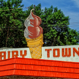 dairy town by Lennie L. - Artistic Objects Signs