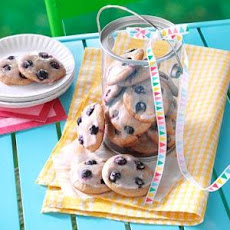 Soft Blueberry Button Cookies