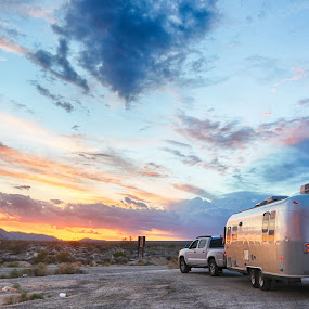 The Open Road by Mike Fifield - Transportation Other ( airstream, wander lust, california, sunset, travel, travel photography )