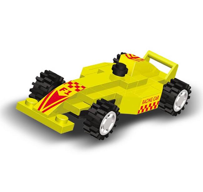 """Конструктор SuperBlock """"Большие гонки"""" Гоночная машина XS"""