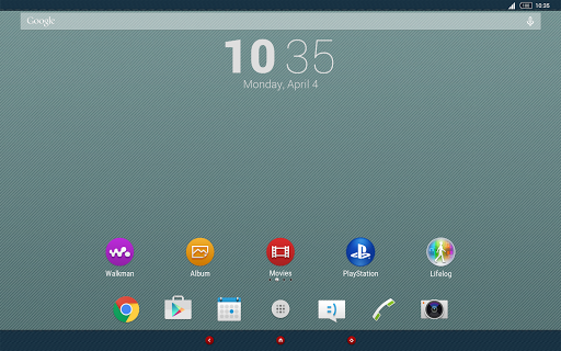 Jeans Xperia Theme - screenshot