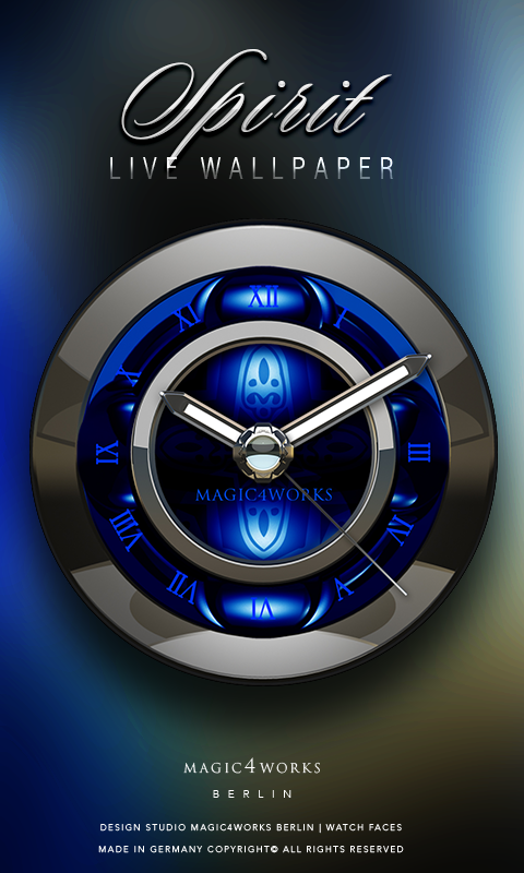 HD Analog Clock Bundle LWP 7 Screenshot 1
