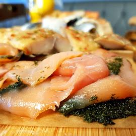 Fish salmon stake by Sebastijan Jug - Food & Drink Meats & Cheeses ( fish, salmon, reception, dinner )