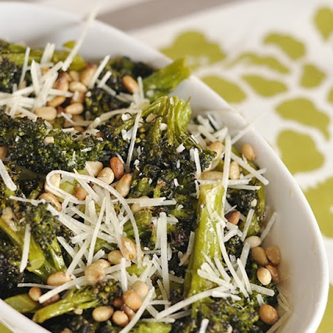 Roasted Broccoli with Parmesan and Pine Nuts