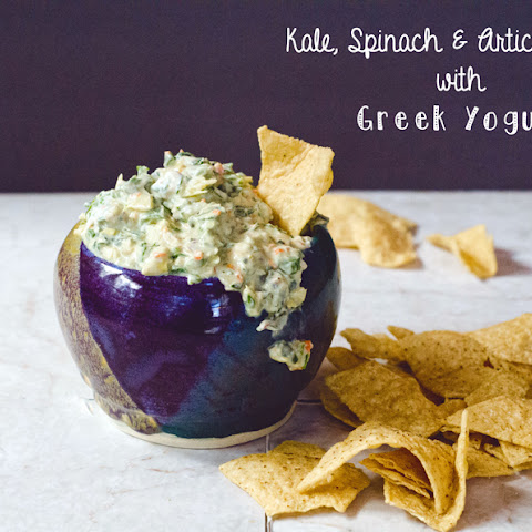Kale, Spinach & Artichoke Dip With Greek Yogurt