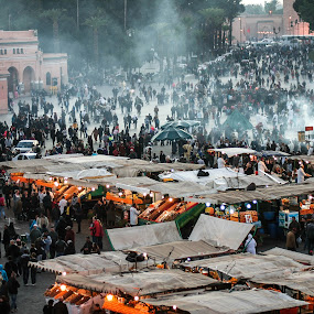 Marrakesh Express by Tom Howes - City,  Street & Park  Markets & Shops ( morocco )