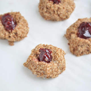Almond Butter & Jelly Thumbprint Cookies