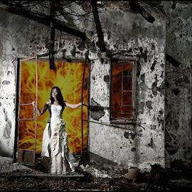 Phoenix by Adrian Chinery - Digital Art People ( bridal, johannesburg, south africa, portfolio, photographer, bride, burn, portrait, adrian chinery )