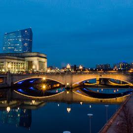 Nightbridge  by Efraim van der Walt - Buildings & Architecture Bridges & Suspended Structures ( north america, night, philadelphia, bridge )