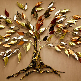 The golden tree. by Peter DiMarco - Artistic Objects Other Objects ( art, artistic, artistic objects, golden, artwork )