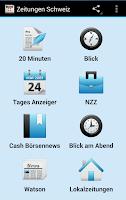 Screenshot of Zeitungen Schweiz Lokalzeitung