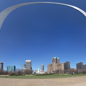 Saint Louis by Marc Zangger - City,  Street & Park  Skylines ( skyline, blue sky, arche, st. louis mo, pwcskylines )