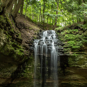 Tannery Falls by Christine Weaver-Cimala - Landscapes Waterscapes ( water, michigan, nature, munising, u.p., waterfall, falls, summer, tannery, landscape,  )