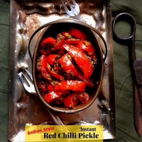 Instant Red Chili Pickle (Indian Style)