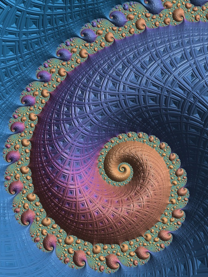 Luscious blue and violet swirl fractal by Pam Blackstone - Illustration Abstract & Patterns ( orange, purple, blue, violet, spiral, fractal )