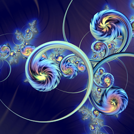 Celestial bodies by Cassy 67 - Illustration Abstract & Patterns ( stars, swirl, street, digital art, fractal art, wallpaper, star, spiral, flowers, fractal, digital, fractals )