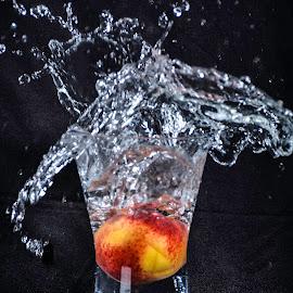 Peach splash by Ester/Hennie Snyman - Abstract Water Drops & Splashes