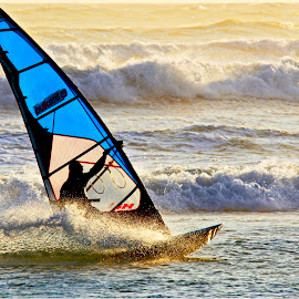 Windsurfer by Charl Bence - Sports & Fitness Watersports ( water, splash, sport, sea, sail, windsurfing )