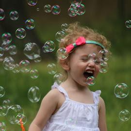 Loviun Bubbles by Peggy Clark - Babies & Children Children Candids ( bubbles, family, granddaughter, fun )