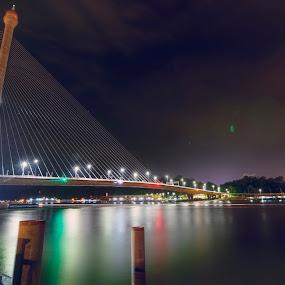 Jambatan To Kg Sungai Kebun  by Mohamad Sa'at Haji Mokim - Buildings & Architecture Bridges & Suspended Structures ( 2017, famous, bandar seri begawan, brunei, saatmokim )