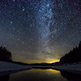 Under the stars by Iliyana Shishkova - Landscapes Starscapes