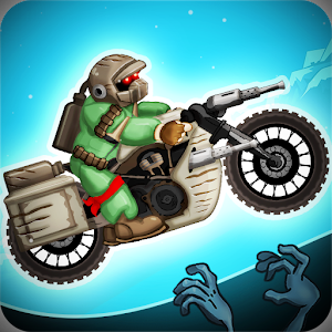Zombie Shooter Motorcycle Race Icon