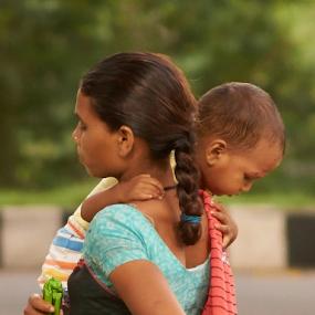 Feeling of hollow and complete  by Mahesh Gadekar - People Street & Candids ( serenity, childhood, motherhood, feelings,  )