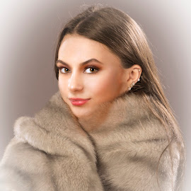 Fox in Fur by Peter Miller - People Portraits of Women